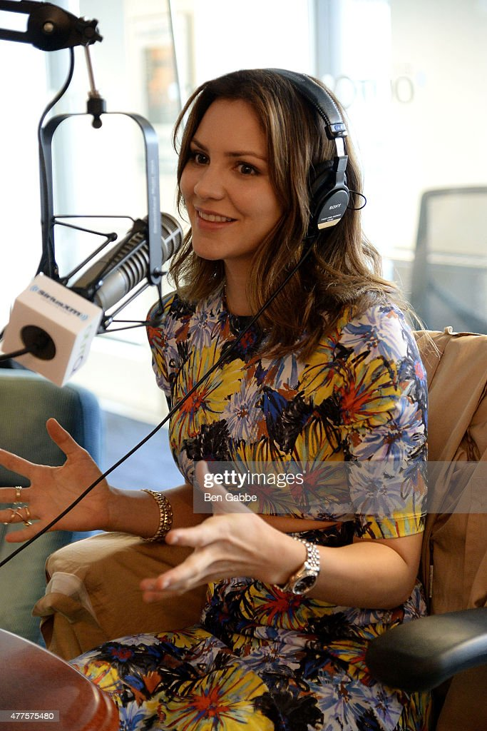 Singer/actress Katharine McPhee visits Out Q/Flick at SiriusXM Studios on June 18, 2015 in New York City.