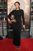 Singer/Actress Keri Hilson arrives at the Los Angeles Premiere 'Riddick' at the Mann Village Theater on August 28 2013 in Westwood California
