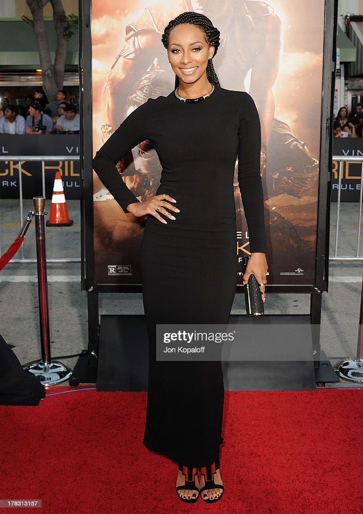 Singer/Actress Keri Hilson arrives at the Los Angeles Premiere 'Riddick' at the Mann Village Theater on August 28, 2013 in Westwood, California.