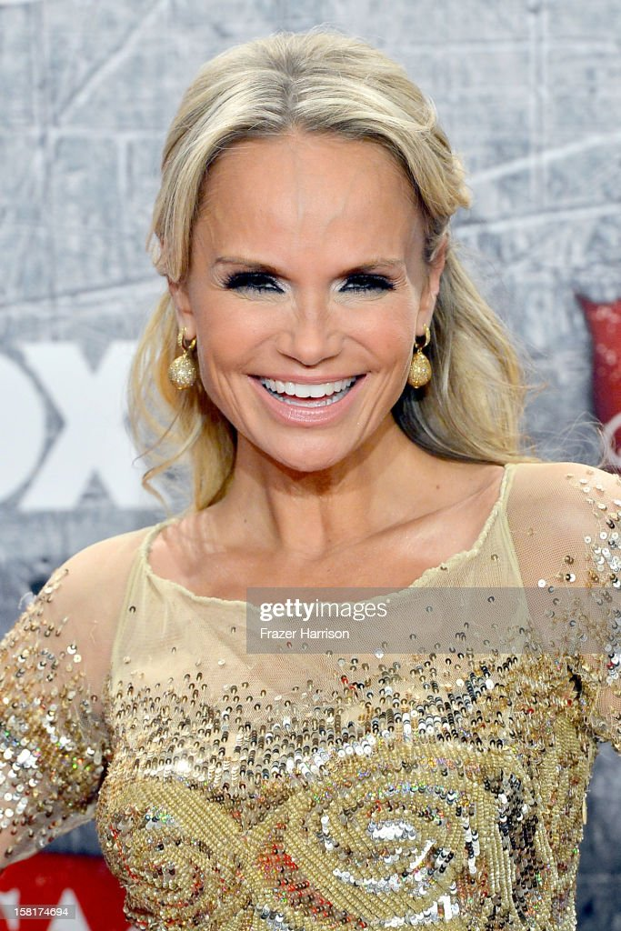 Singer/actress Kristin Chenoweth poses in the press room during the 2012 American Country Awards at the Mandalay Bay Events Center on December 10, 2012 in Las Vegas, Nevada.