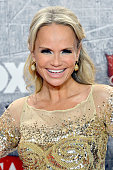 Singer/actress Kristin Chenoweth poses in the press room during the 2012 American Country Awards at the Mandalay Bay Events Center on December 10...