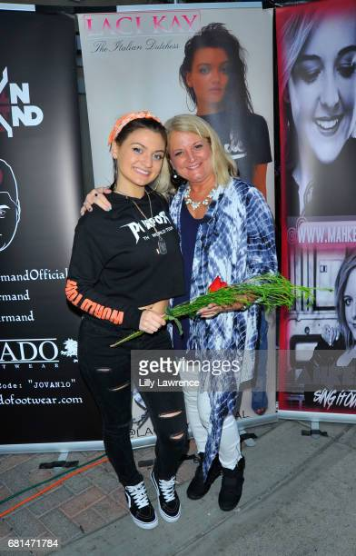 Singer/actress Laci Kay with her mother Cindy Schoonover at Mother's Day Night Out Concert at Surf City Nights on May 9 2017 in Huntington Beach...