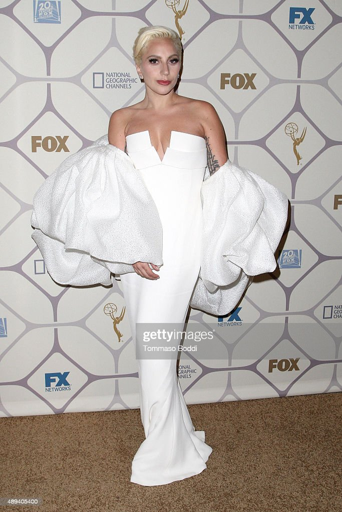 Singer/Actress Lady Gaga attends the 67th Primetime Emmy Awards Fox after party on September 20 2015 in Los Angeles California