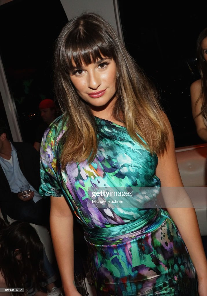 Singer/actress <a gi-track='captionPersonalityLinkClicked' href=/galleries/search?phrase=Lea+Michele&family=editorial&specificpeople=566514 ng-click='$event.stopPropagation()'>Lea Michele</a> attends the NYLON and Sony X Headphones September TV issue launch event with cover star, <a gi-track='captionPersonalityLinkClicked' href=/galleries/search?phrase=Lea+Michele&family=editorial&specificpeople=566514 ng-click='$event.stopPropagation()'>Lea Michele</a> at Mr. C Beverly Hills on September 15, 2012 in Beverly Hills, California.
