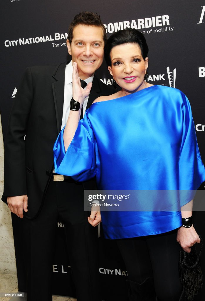 Singer/actress <a gi-track='captionPersonalityLinkClicked' href=/galleries/search?phrase=Liza+Minnelli&family=editorial&specificpeople=121547 ng-click='$event.stopPropagation()'>Liza Minnelli</a> (R) and <a gi-track='captionPersonalityLinkClicked' href=/galleries/search?phrase=Michael+Feinstein&family=editorial&specificpeople=215225 ng-click='$event.stopPropagation()'>Michael Feinstein</a> attend The Hollywood Reporters 35 Most Powerful People In Media at Four Seasons Grill Room on April 10, 2013 in New York City.