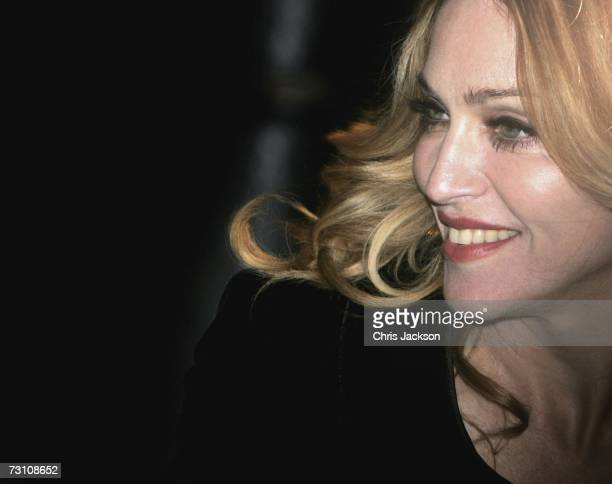 Singer/Actress Madonna at the UK Premiere of 'Arthur And The Invisibles' at the Vue West End Cinema Leicester Square on January 25 2007 in London...
