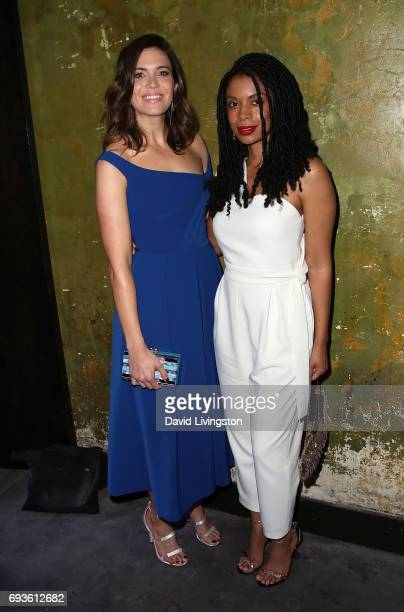 Singer/actress Mandy Moore and actress Susan Kelechi Watson attend 20th Century Fox Television NBC's 'This Is Us' FYC screening and panel at The...