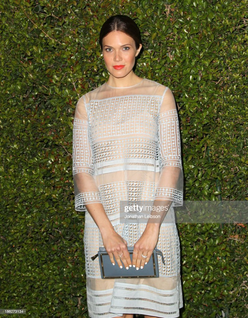 Singer/Actress Mandy Moore attends Chloe Los Angeles Fashion Show & Dinner hosted by Clare Waight Keller, January Jones and Lisa Love on October 29, 2013 in Los Angeles, California.