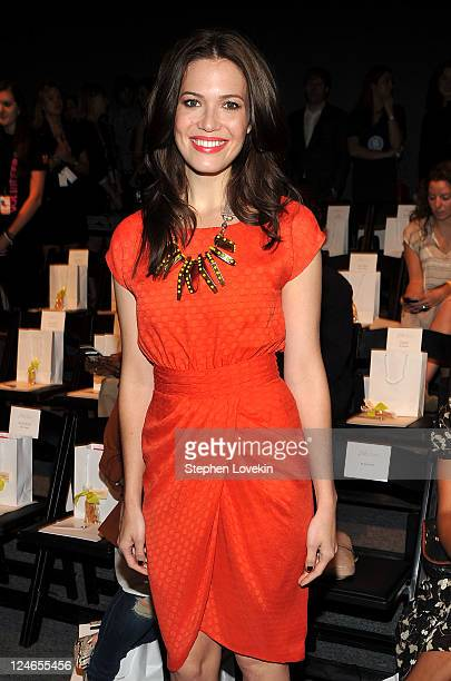 Singer/actress Mandy Moore attends the Lela Rose Spring 2012 fashion show during MercedesBenz Fashion Week at The Studio at Lincoln Center on...