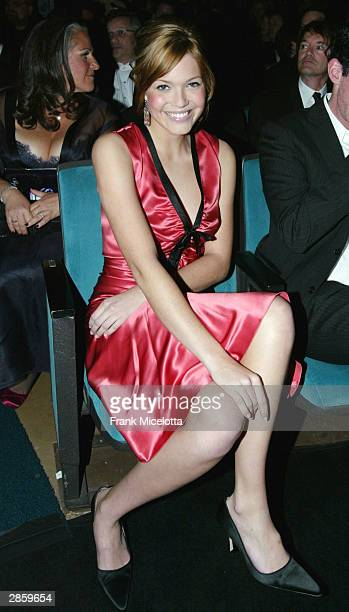 Singer/actress Mandy Moore in the audience during the 30th Annual People's Choice Awards at the Pasadena Civic Auditorium January 11 2004 in Pasadena...