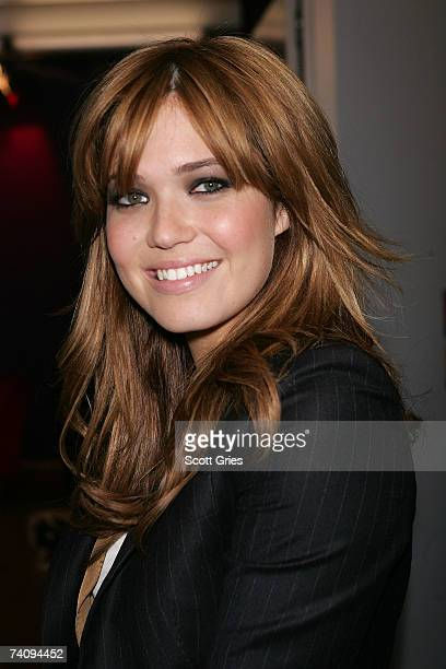 Singer/actress Mandy Moore poses for a photo backtage during MTV's Total Request Live at the MTV Times Square Studios on May 7 2007 in New York City