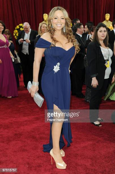 Singer/actress Mariah Carey arrives at the 82nd Annual Academy Awards held at Kodak Theatre on March 7 2010 in Hollywood California