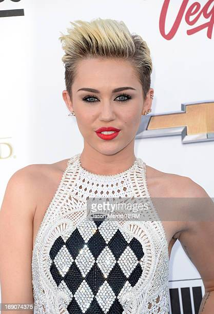 Singer/Actress Miley Cyrus arrives at the 2013 Billboard Music Awards at the MGM Grand Garden Arena on May 19 2013 in Las Vegas Nevada