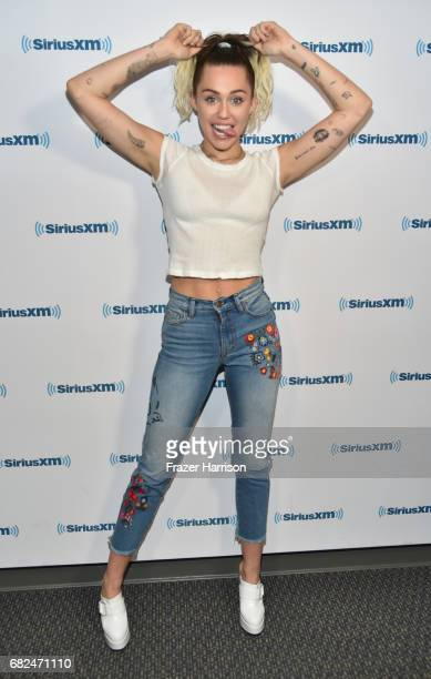 Singer/actress Miley Cyrus Visits 'Hits 1 In Hollywood' On SiriusXM Hits 1 Channel at The SiriusXM Studios In Los Angeles on May 12 2017 in Los...
