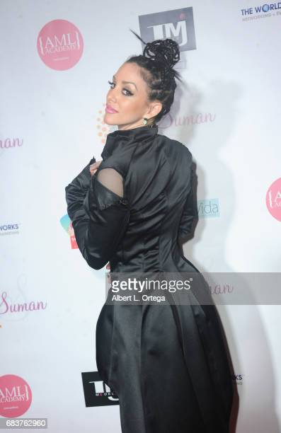 Singer/actress Rachele Royale at Sai Suman's Official Hollywood Runway Fashion Show held at Sofitel Hotel on April 11 2017 in Los Angeles California