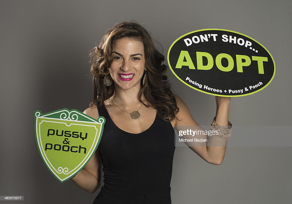 Singer/Actress Renee Marino poses for a portraits at Portraits For Pooches on March 30, 2014 in Beverly Hills, California.