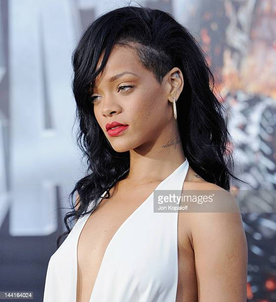 Singer/actress Rihanna arrives at the Los Angeles Premiere 'Battleship' at the Nokia Theatre LA Live on May 10 2012 in Los Angeles California