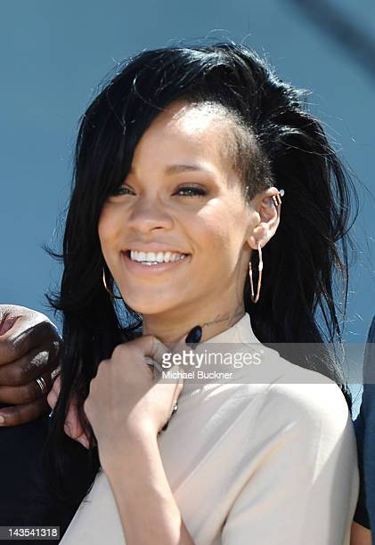 Singer/Actress Rihanna attends the 'Battleship' Photo Call at the Battleship Missouri Memorial on April 28 2012 in Pearl Harbor Hawaii