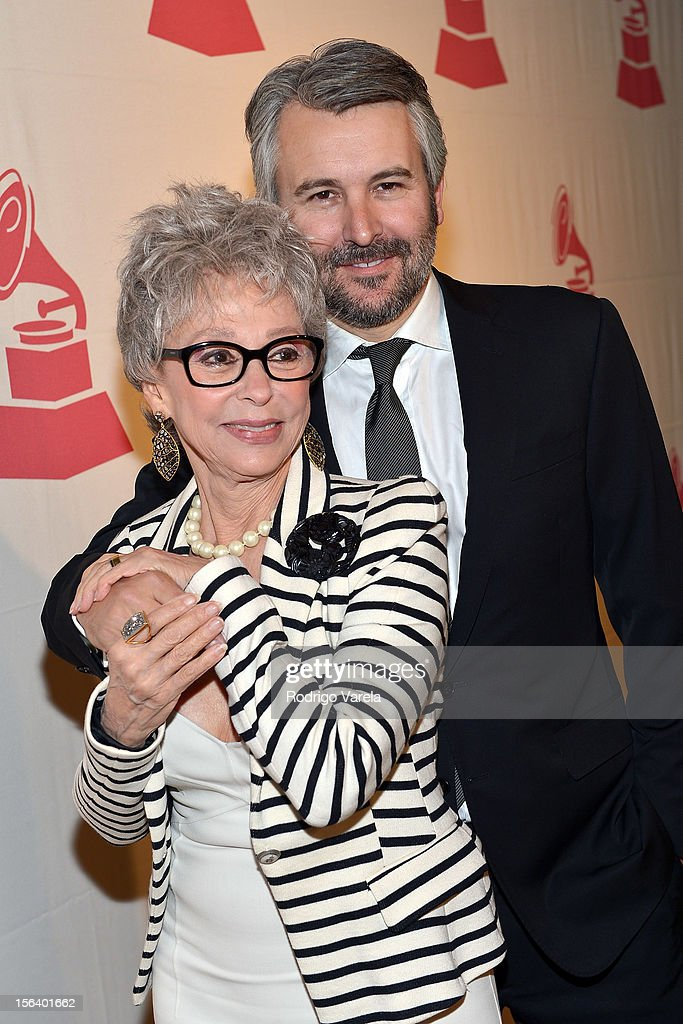 Singer/actress <a gi-track='captionPersonalityLinkClicked' href=/galleries/search?phrase=Rita+Moreno&family=editorial&specificpeople=210549 ng-click='$event.stopPropagation()'>Rita Moreno</a> (L) and Gavin Lurssen arrive at the 2012 Latin Recording Academy Special Awards during the 13th annual Latin GRAMMY Awards at the Four Seasons Hotel on November 14, 2012 in Las Vegas, Nevada.
