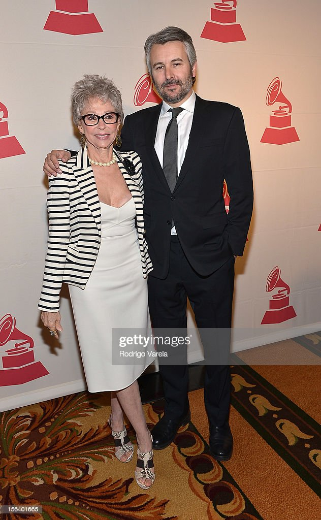Singer/actress Rita Moreno (L) and Gavin Lurssen arrive at the 2012 Latin Recording Academy Special Awards during the 13th annual Latin GRAMMY Awards at the Four Seasons Hotel on November 14, 2012 in Las Vegas, Nevada.