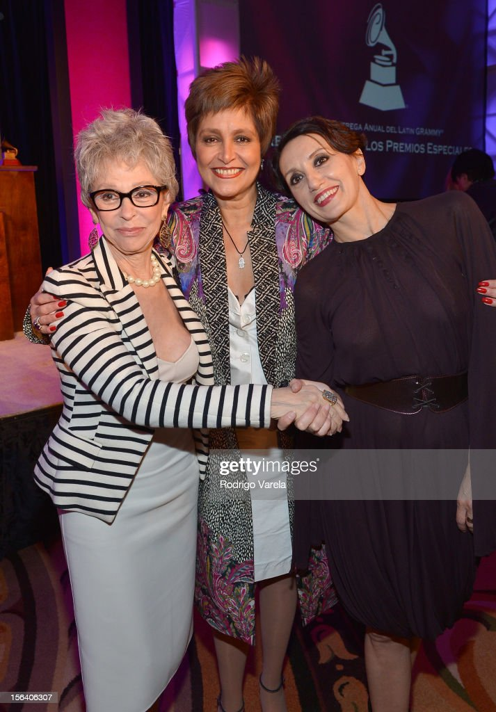 Singer/actress Rita Moreno, and singers Daniela Romo and Luz Casal attend the 2012 Latin Recording Academy Special Awards during the 13th annual Latin GRAMMY Awards at the Four Seasons Hotel on November 14, 2012 in Las Vegas, Nevada.