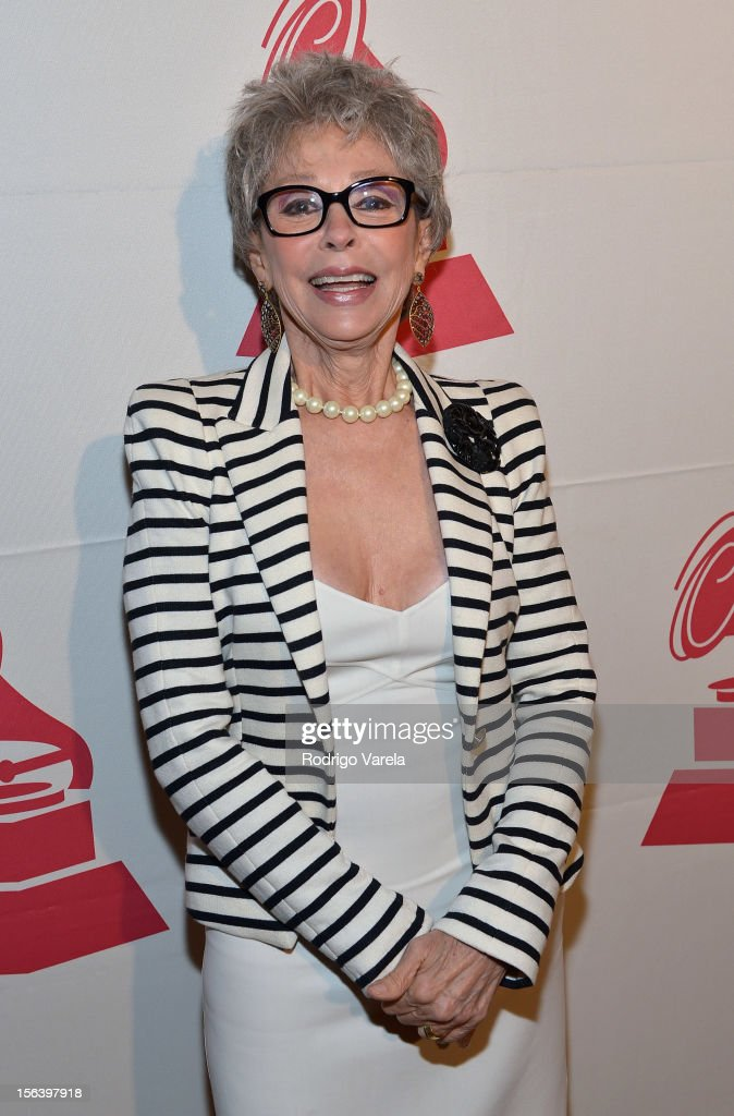 Singer/actress Rita Moreno arrives at the 2012 Latin Recording Academy Special Awards during the 13th annual Latin GRAMMY Awards at the Four Seasons Hotel on November 14, 2012 in Las Vegas, Nevada.
