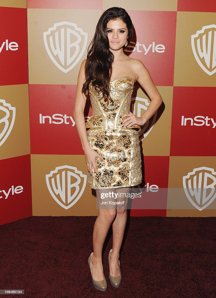 Singer/actress Selena Gomez arrives at the InStyle And Warner Bros. Golden Globe Party at The Beverly Hilton Hotel on January 13, 2013 in Beverly Hills, California.