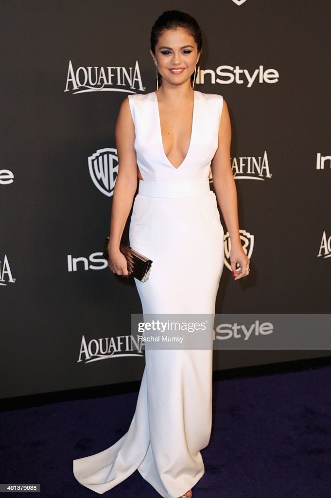 Singer/Actress <a gi-track='captionPersonalityLinkClicked' href=/galleries/search?phrase=Selena+Gomez&family=editorial&specificpeople=4295969 ng-click='$event.stopPropagation()'>Selena Gomez</a> attends the 2015 InStyle And Warner Bros. 72nd Annual Golden Globe Awards Post-Party at The Beverly Hilton Hotel on January 11, 2015 in Beverly Hills, California.