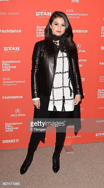 Singer/Actress Selena Gomez attends the 'The Fundamentals of Caring' Premiere during the 2016 Sundance Film Festival at Eccles Theatre on January 29...