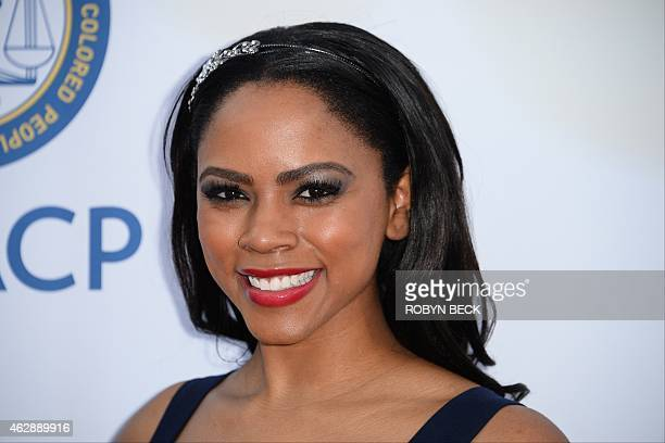 Singer/actress Shanica Knowles attends the 46th NAACP Image Awards at the Pasadena Civic Auditorium in Pasadena California February 6 2015 AFP PHOTO...