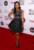 Singer/actress Shvona Lavette attends the 45th NAACP Image Awards presented by TV One at Pasadena Civic Auditorium on February 22 2014 in Pasadena...