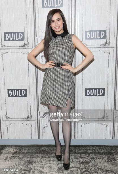 Singer/Actress Sofia Carson attends Build Series to discuss 'Descendants 2' and 2017 Radio Disney Music Awards at Build Studio on April 10 2017 in...