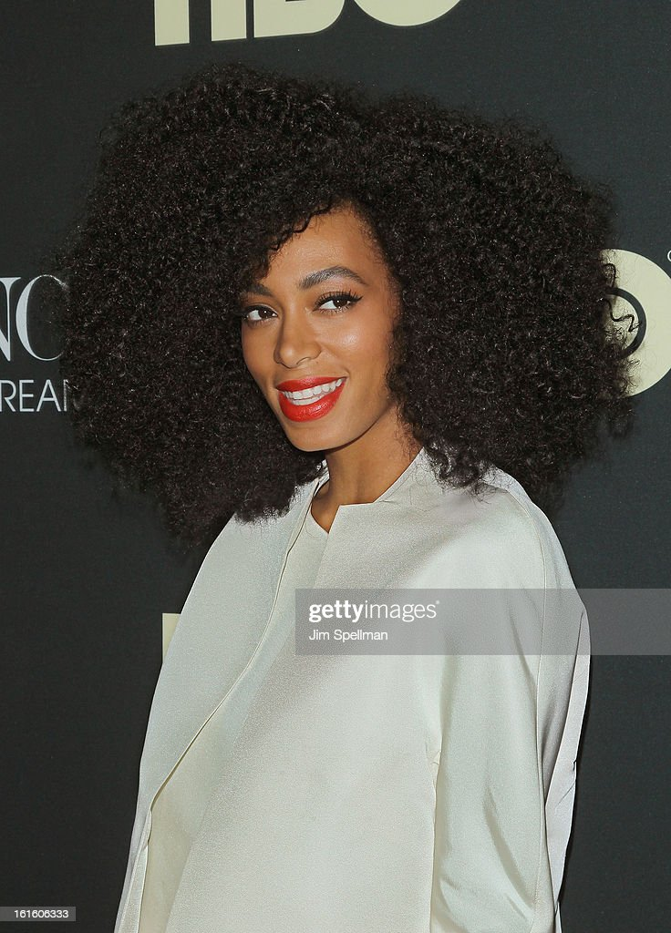 Singer/actress Solange Knowles attends 'Beyonce: Life Is But A Dream' New York Premiere at Ziegfeld Theater on February 12, 2013 in New York City.