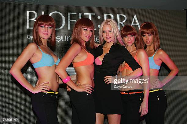 Singer/Actress Sophie Monk promotes the new pushup BiofitBra by Pleasure State at a VIP red carpet event at Catalina's Rose Bay on June 14 2007 in...