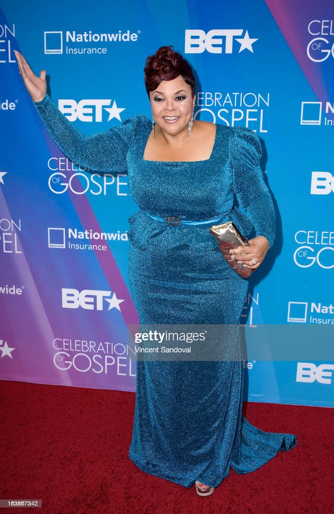 Singer/actress Tamela Mann attends the BET 13th annual 'Celebration Of Gospel' at Orpheum Theatre on March 16, 2013 in Los Angeles, California.