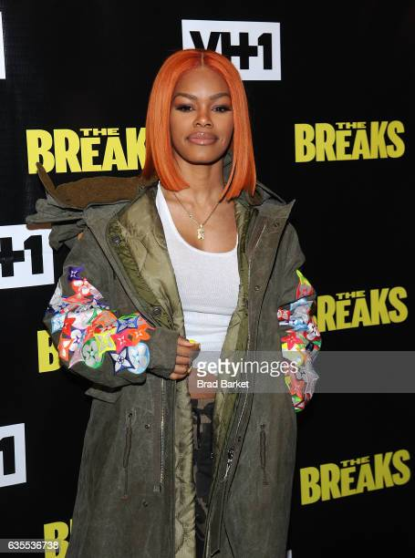 Singer/actress Teyana Taylor attends 'The Breaks' Series Premiere at Roxy Hotel on February 15 2017 in New York City