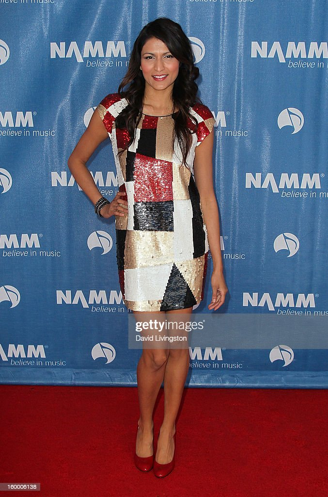 Singer/actress Tinsel Korey attends the 2013 NAMM Show - Day 1 at the Anaheim Convention Center on January 24, 2013 in Anaheim, California.