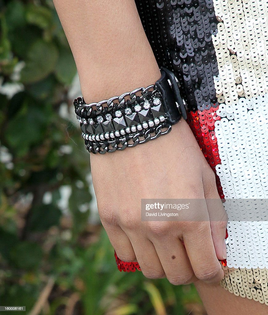 Singer/actress Tinsel Korey (bracelet detail) attends the 2013 NAMM Show - Day 1 at the Anaheim Convention Center on January 24, 2013 in Anaheim, California.