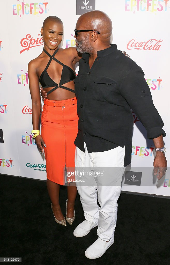 Singer/actress V. Bozeman (L) and Chairman and CEO of Epic Records, <a gi-track='captionPersonalityLinkClicked' href=/galleries/search?phrase=L.A.+Reid&family=editorial&specificpeople=2546947 ng-click='$event.stopPropagation()'>L.A. Reid</a> attend EpicFest 2016 hosted by <a gi-track='captionPersonalityLinkClicked' href=/galleries/search?phrase=L.A.+Reid&family=editorial&specificpeople=2546947 ng-click='$event.stopPropagation()'>L.A. Reid</a> and Epic Records at Sony Studios on June 25, 2016 in Los Angeles, California.