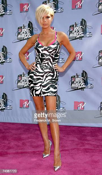 Singer/actress Victoria Beckham arrives to the 2007 MTV Movie Awards held at the Gibson Amphitheatre on June 3 2007 in Universal City California