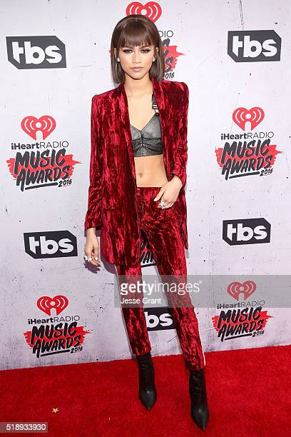Singer/actress Zendaya attends the iHeartRadio Music Awards at The Forum on April 3 2016 in Inglewood California