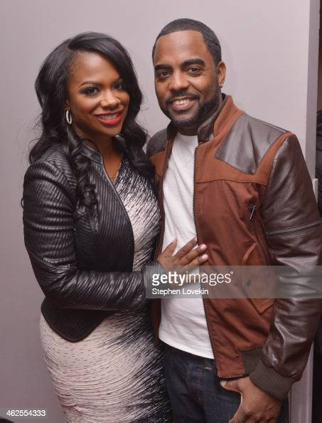 Singer/actress/TV personality Kandi Burress and Todd Tucker attend 'NEWSical The Musical' VIP party celebrating the debut performance of Kandi...