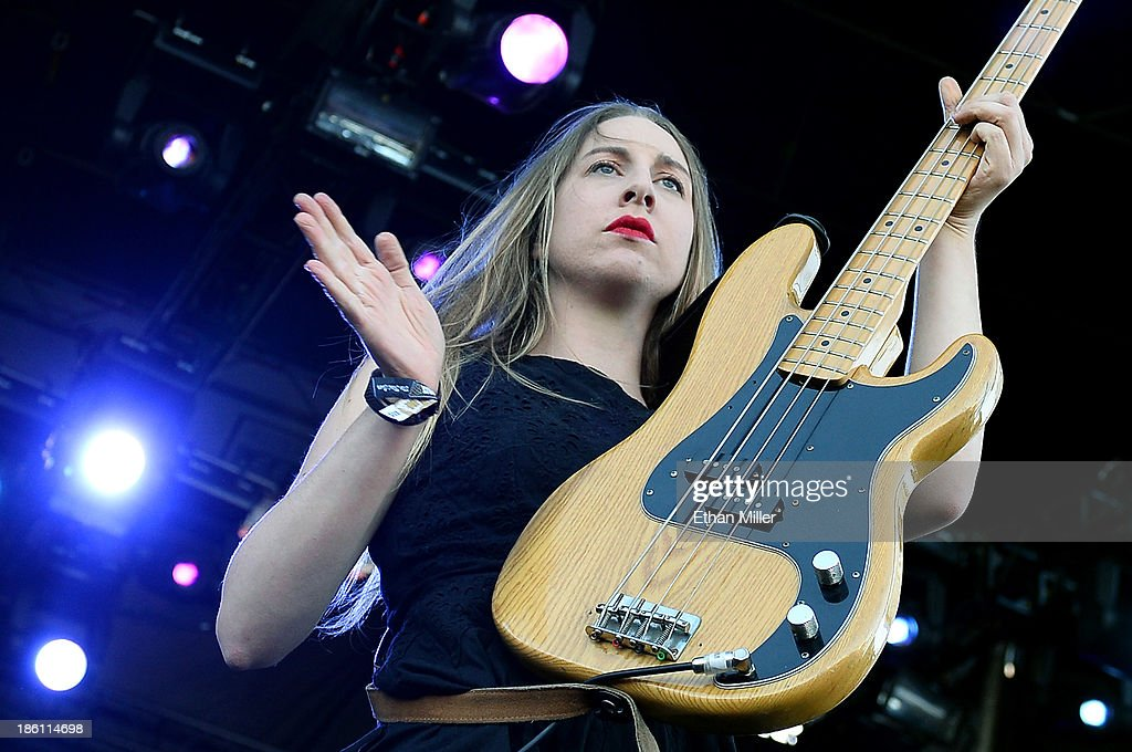 Singer/bassist <a gi-track='captionPersonalityLinkClicked' href=/galleries/search?phrase=Este+Haim&family=editorial&specificpeople=2499486 ng-click='$event.stopPropagation()'>Este Haim</a> of Haim performs during the Life is Beautiful festival on October 27, 2013 in Las Vegas, Nevada.