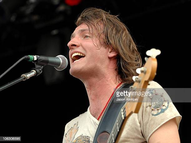 Singer/Bassist Joe Sumner of Fiction Plane performs onstage at the Virgin Festival By Virgin Mobile 2007 at Pimlico Race Course on August 4 2007 in...