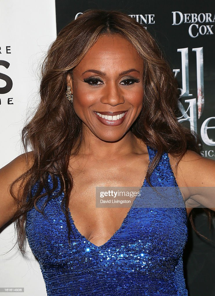 Singer/cast member Deborah Cox poses at the opening night of 'Jekyll & Hyde' at the Pantages Theatre on February 12, 2013 in Hollywood, California.