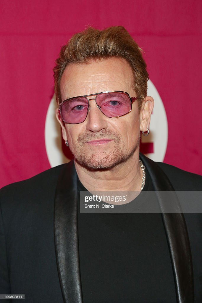 Singer/co-founder of ONE and (RED) <a gi-track='captionPersonalityLinkClicked' href=/galleries/search?phrase=Bono&family=editorial&specificpeople=167279 ng-click='$event.stopPropagation()'>Bono</a> attends ONE and (RED)'s 'It Always Seems Impossible Until It Is Done' event held at Carnegie Hall on December 1, 2015 in New York City.