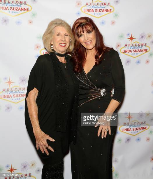 Singer/comedian Barbara Brighton and singer Linda Suzanne attend the debut of Suzanne's show 'Linda Suzanne Sings Divas of Pop' at the South Point...