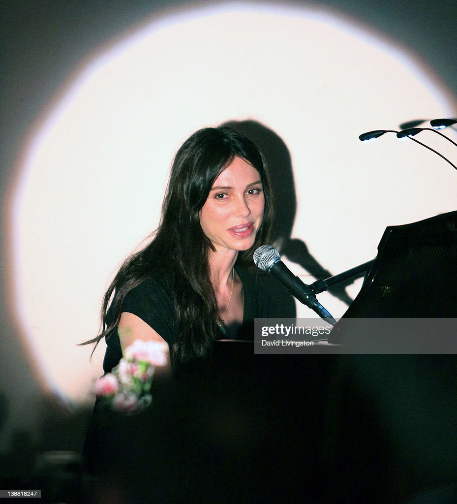 Singer/composer <a gi-track='captionPersonalityLinkClicked' href=/galleries/search?phrase=Oksana+Grigorieva&family=editorial&specificpeople=5834422 ng-click='$event.stopPropagation()'>Oksana Grigorieva</a> makes her U.S performing debut at Gardenia on February 11, 2012 in Los Angeles, California.