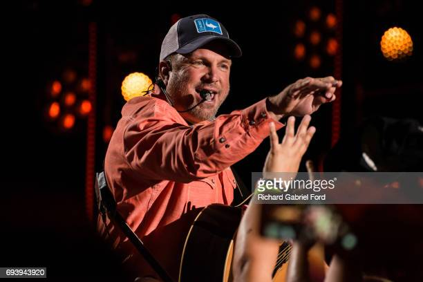 SingerGarth Brooks performs at Nissan Stadium during day 1 of the 2017 CMA Music Festival on June 8 2017 in Nashville Tennessee