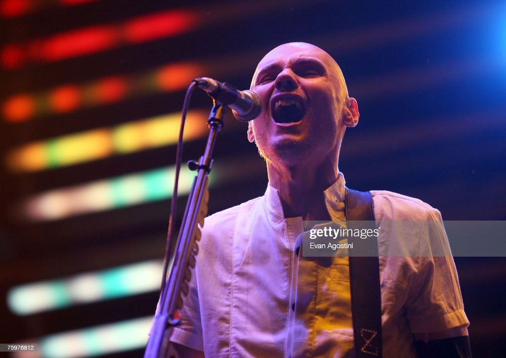 Singer/Guitarist Billy Corgan of Smashing Pumpkins performs onstage at the Virgin Festival By Virgin Mobile 2007 at Pimlico Race Course on August 5, 2007 in Baltimore, Maryland.